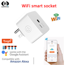 Smart Home Automation Smart Plug Wifi Smart Socket US Plug Work With Amazon Alexa/Echo Dot & Google home wall socket home security alexa compatible surge protection zigbee home automation solution smart metering plug