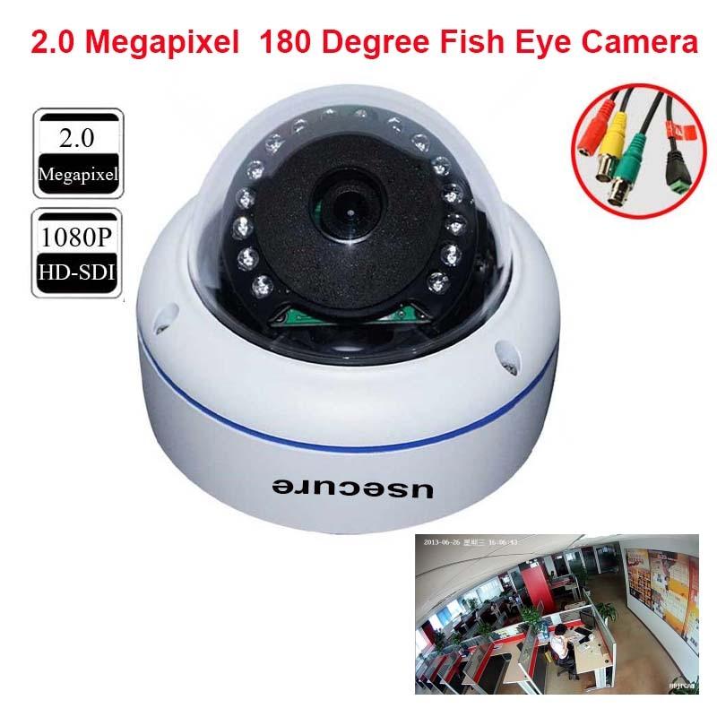 Best Quality 1080P Full HD Panoramic HD SDI Camera 180 Degree Fisheye CCTV Camera 2.0 Mega Pixels HD-SDI Vandalproof Dome camera hd sdi miniature headset bullet camera 1920x1080 30fps