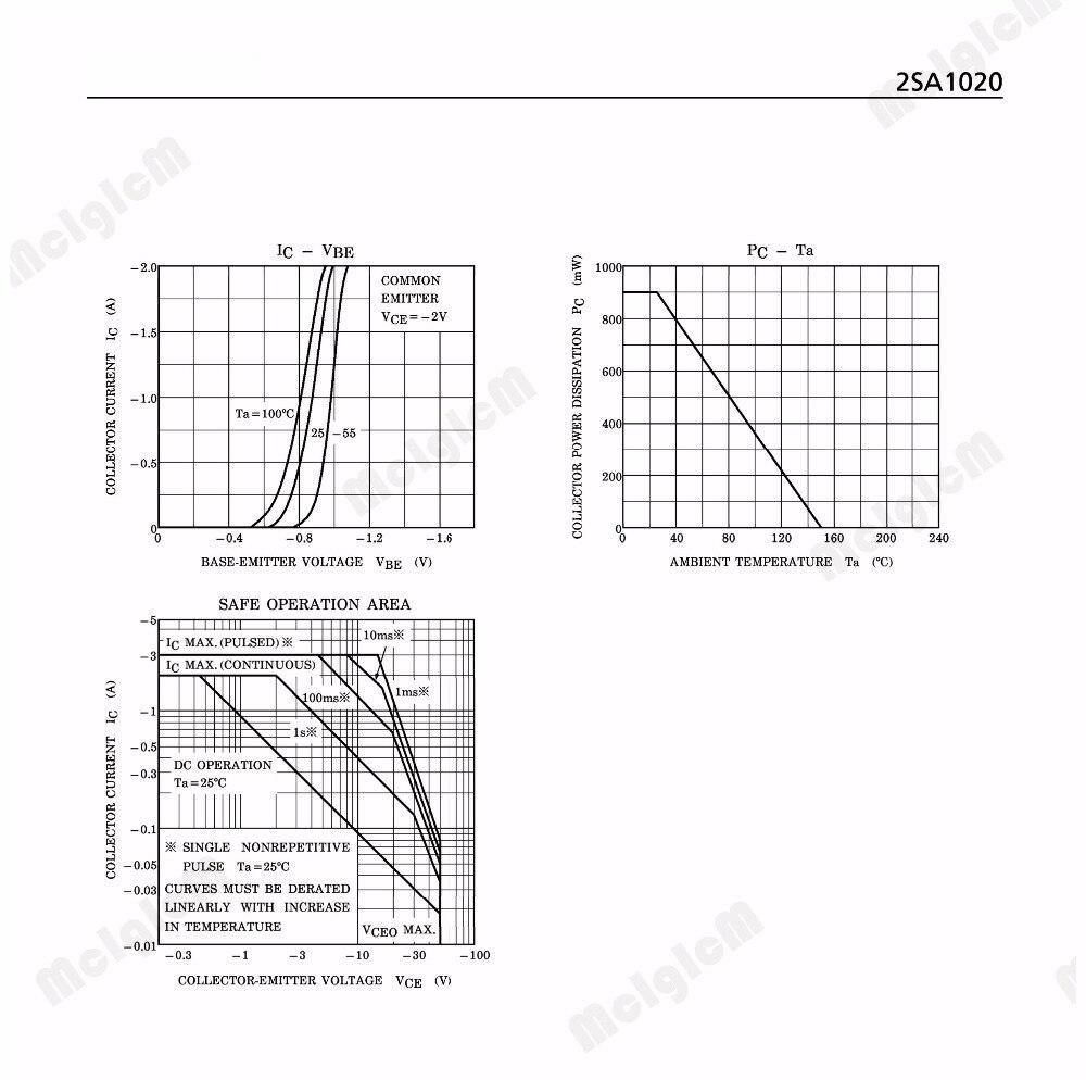 Mcigicm 50pcs 2sa1020 Y50pcs 2a 50v A1020 Pnp Transistor Commonbasenpntransistorcircuitjpg Bipolar Bjt 100mhz 900mw Through Hole To 92mod