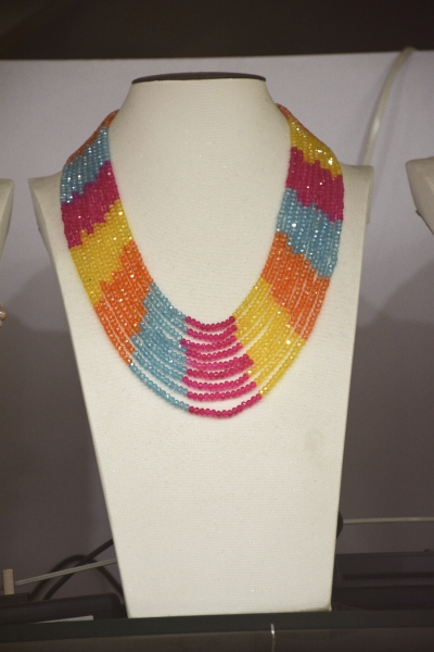 Necklaces & Pendants Top Fashion New Women Collier Maxi Necklace 2017 Fancy Multicolor Czech Glass Mix Color Statement Necklace mjartoria crystal mystic statement necklace women maxi necklace fire pendants