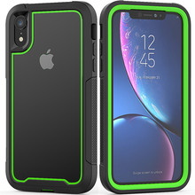 Rugged Shockproof transparent Phone Back Case for iPhone 11 Pro MaxXS Max XR X 6s 7 8Plus Hybrid Armor Frame Soft TPU Cover Case