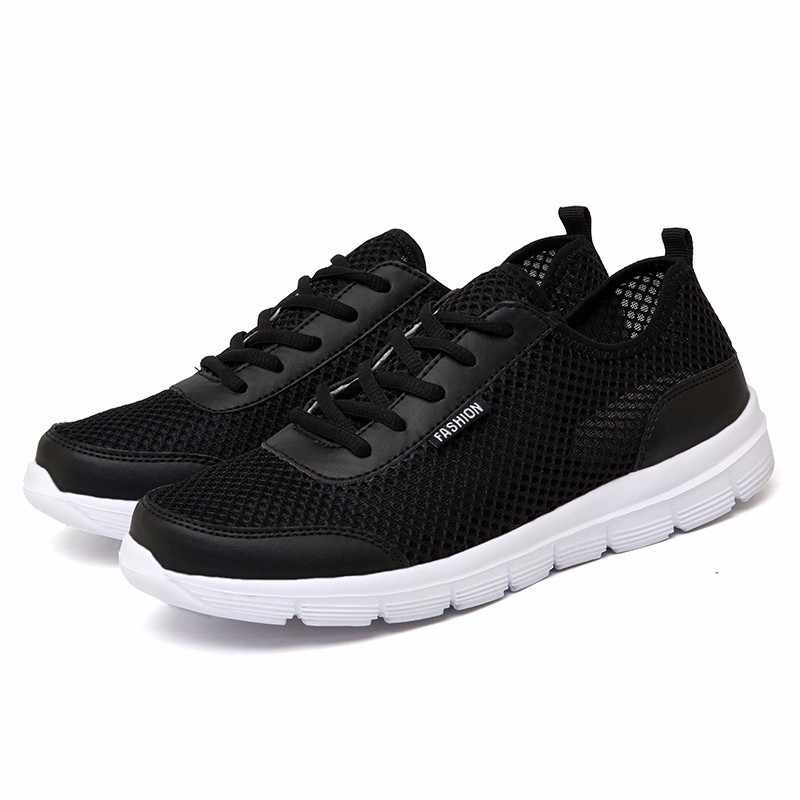 2019 обувь мужские кроссовки легкие дышащие Zapatillas мужские повседневные туфли пара обуви унисекс zapatos hombre Большие размеры 35-47