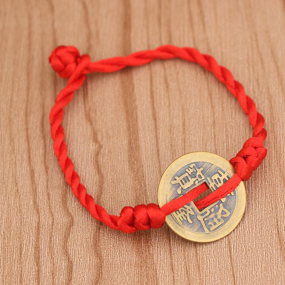 Lucky Red Thread Bracelets Chinese Antique Coin String Handmade Braided Jewelry Bracelet for Women Men Jewelry Lover Couple bracelet