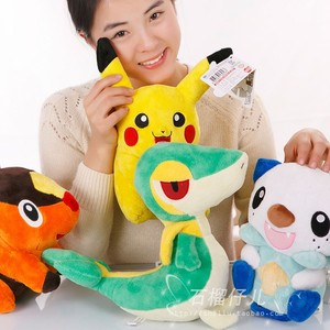 Free shipping pikachu Oshawott Snivy Tepig 28cm Plush Stuffed Toys Doll 11inches