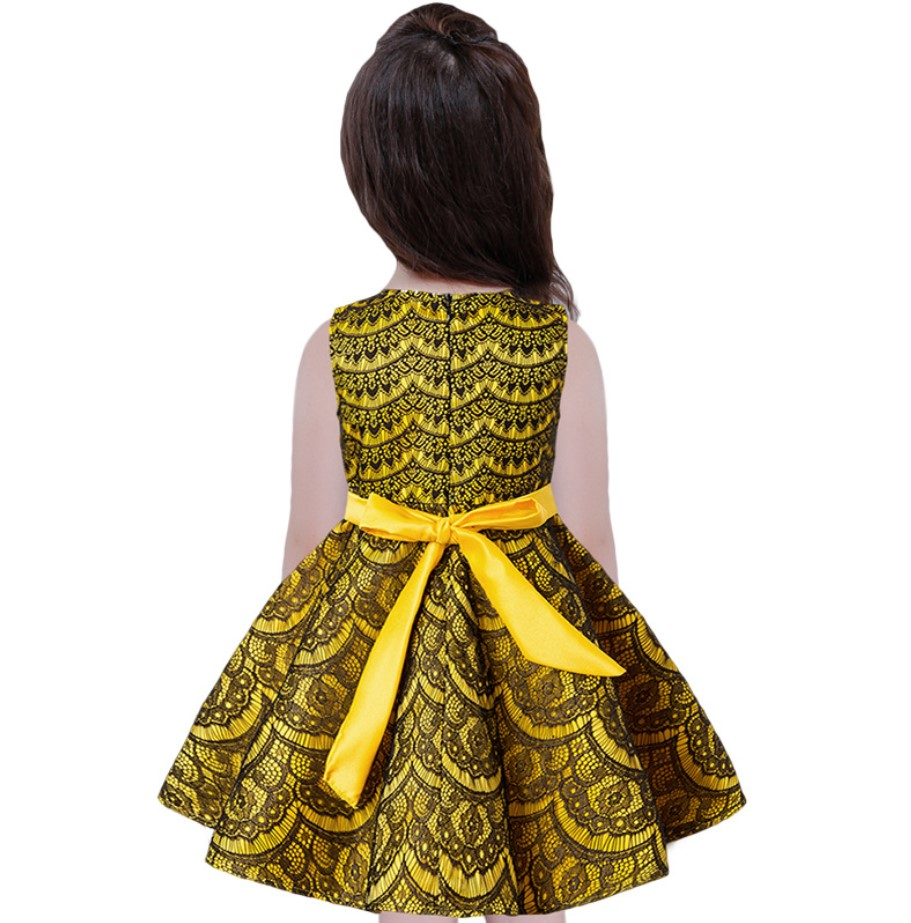 Girls Summer Clothing Sleeveless Lace Striped Princess Dress For ...