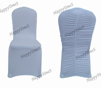 Wedding Decoration White Lycra Chair Cover  Wrinkled At The Backside 100Pcs/lot,Elastic Fabric Chair Covers for wedding