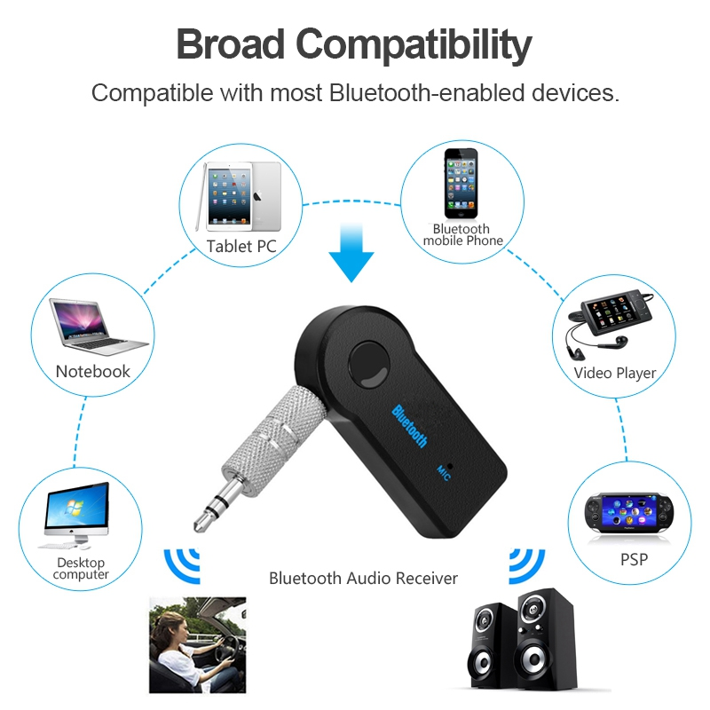 Image 5 - Bluetooth Wireless for Car Music Audio Stereo 3.5mm Bluetooth Receiver Adapter Aux For Headphone Reciever Jack Handsfree-in USB Bluetooth Adapters/Dongles from Computer & Office