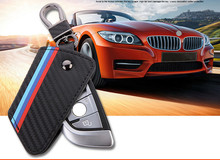 1 шт. ДЛЯ BWM Углеродного волокна КЛЮЧ кожаный ЧЕХОЛ Smart Remote Key Cover Case Держатель Брелок Для BMW 1 3 5 6 7 Серии X1 X3 X4 X5 X6