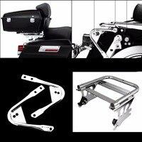 Two up Tour Pak Pack Luggage Rack &Docking Hardware Kit For Harley Touring Electra Glide Road King 1997 2008