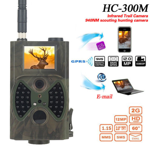 HC300M 940NM Infrared Night Vision Digital Trail Camera With Remote Control 2G MMS GPRS GSM SMS Control Camera for Hunting arduino atmega328p gboard 800 direct factory gsm gprs sim800 quad band development board 7v 23v with gsm gprs bt module
