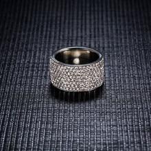 Full Crystal Big Wedding Rings Romantic For Women