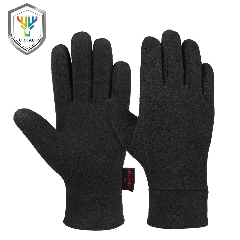OZERO Winter Handschuhe Winddicht Liner Thermische Polar Reflektierende Verdicken Halten Warme Handschuhe Sport Laufen Radfahren Handschuhe für Männer Frauen
