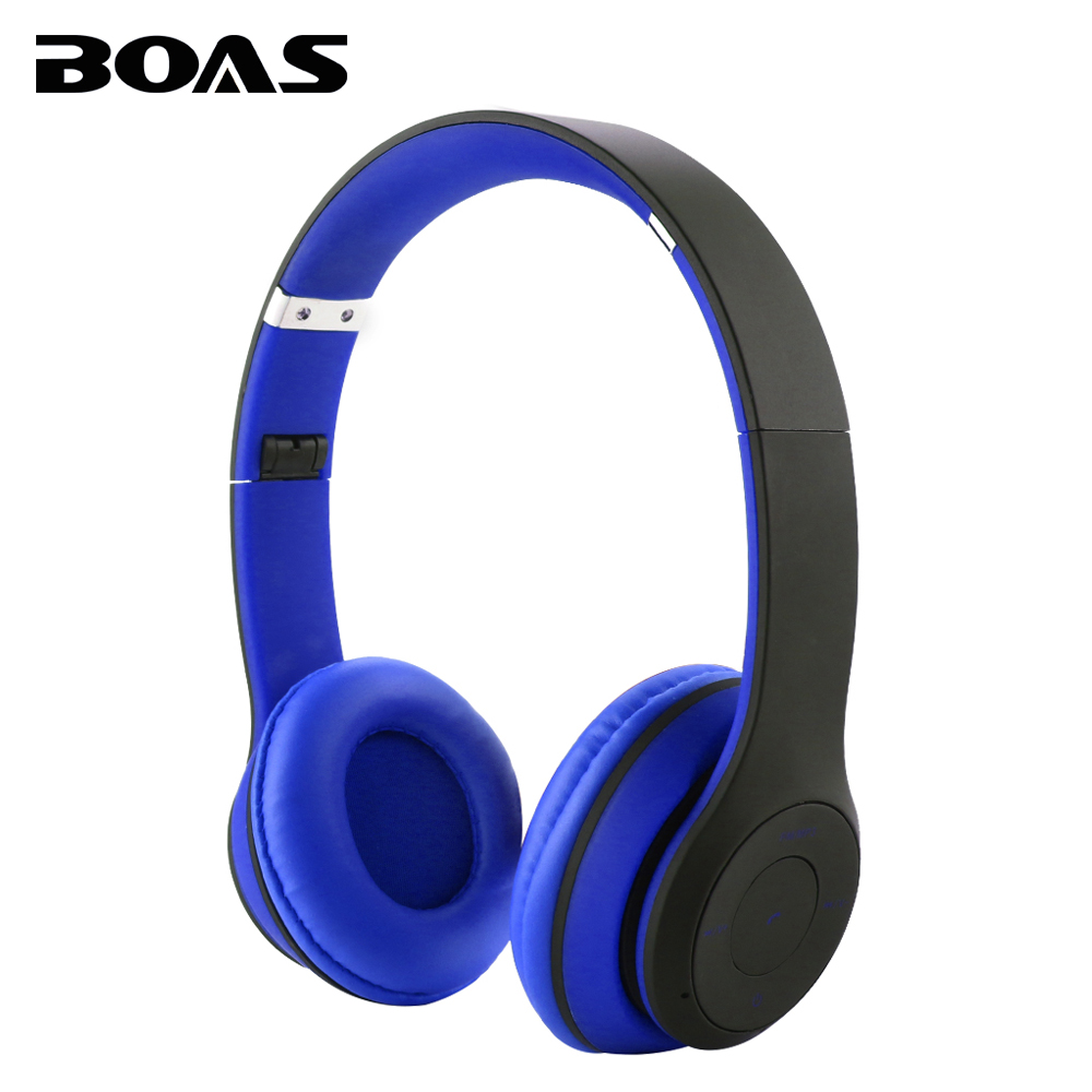 BOAS Wireless Foldable Bluetooth Headphone Portable Earphone Handsfree Headset with MIC Support TF card FM Raido for Smartphones boas car driver bluetooth earphone wireless handsfree handphone base charger dock in ear hook headset with mic for iphone xiaomi