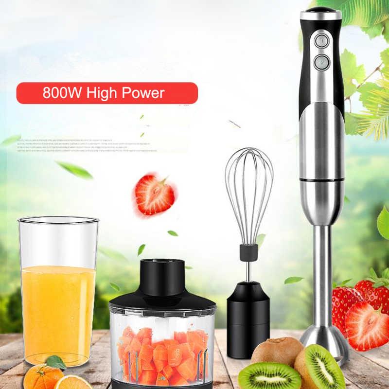 Multifunções 800 w Hand Blender mixer Batedor De Ovos Misturador Moedor de Carne Processador de Alimentos Juicer Lento