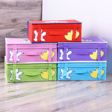 Creative Collapsible Storage Box Organizer Multi-Function Home Bedroom Wardrobe Bed Bottom Debris Underwear Cute Storage Box(China)