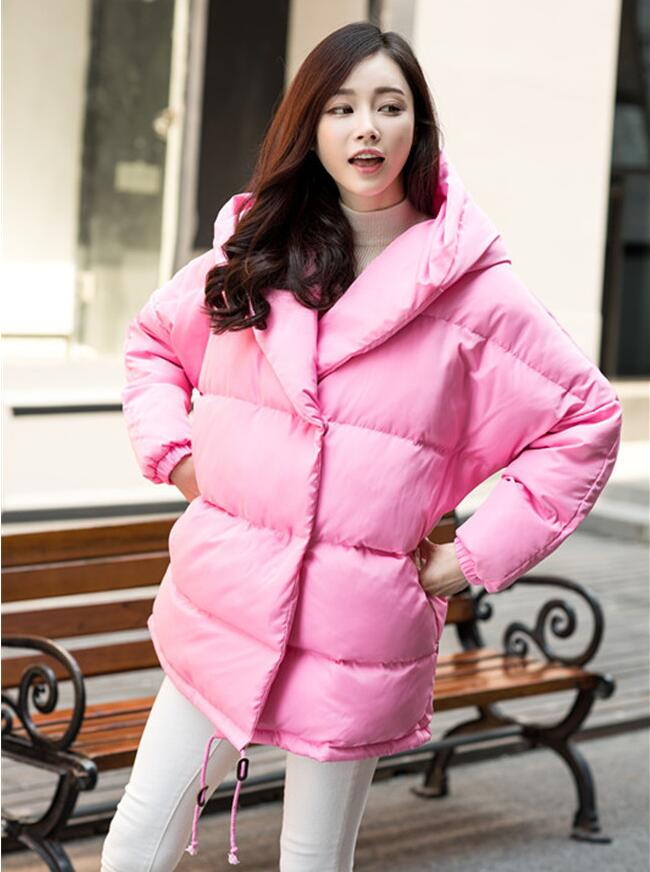winter women loose fit coat fashion cute parkas hooded jacket overcoat medium casual plus size duck down overcoat snowear 07 winter new women loose coat fashion cute parkas hooded jacket overcoat long section casual down cotton large size coat cm1560