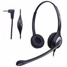 Wantek 2.5mm Telephone Headset for Cisco Linksys SPA Grandstream Polycom Panasonic Zultys AT&T Office IP and Cordless Dect Phone