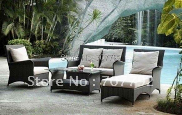 Heißer Verkauf Kunststoff Rattan Möbel Sofa In Heißer Verkauf