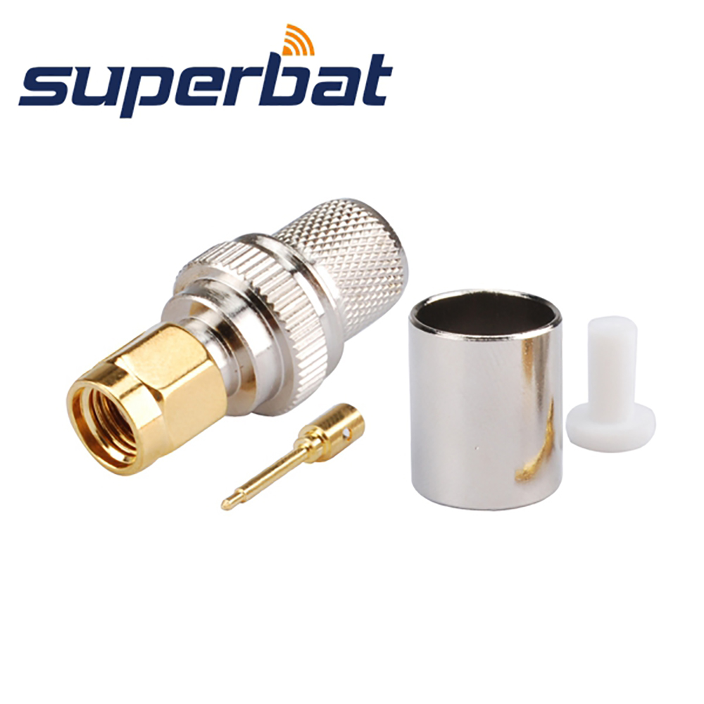 Superbat 10pcs Rf Coaxial Connector Sma Crimp Plug Male For Cable 50 Prototype Pcb Circuit Panel Solder Diy 50x70 Board Rg8 Rg213 Lmr400 Free Shipping