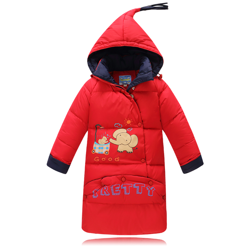 Baby Snowsuit Winter Down Jacket For Girls Children Down Coat Boys Kids Cartoon Hooded Jackets Outerwear Baby Sleeping Bag Wrap buenos ninos thick winter children jackets girls boys coats hooded raccoon fur collar kids outerwear duck down padded snowsuit