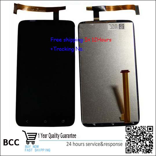 100% Original New For HTC One X S720E G23 LCD Digitizer Display+Touch Screen Panel Touchscreen Assembly Test ok+Track test ok for htc one max lcd display touch screen digitizer panel with frame assembly free shipping track code