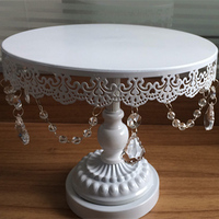 6 8 10 12 Inch Cake Stand Cake Tray With Lace And Carystal For Wedding