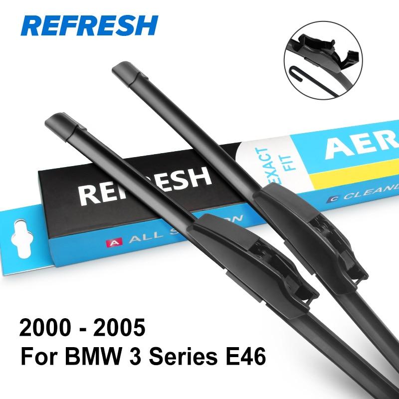 REFRESH Щетки стеклоочистителя для BMW 3 серии E46 E90 E91 E92 E93 F30 F31 F34 316i 318i 320i 323i 325i 328i 330i 335i 318d 320d 330d - Цвет: 2000 - 2005 ( E46 )