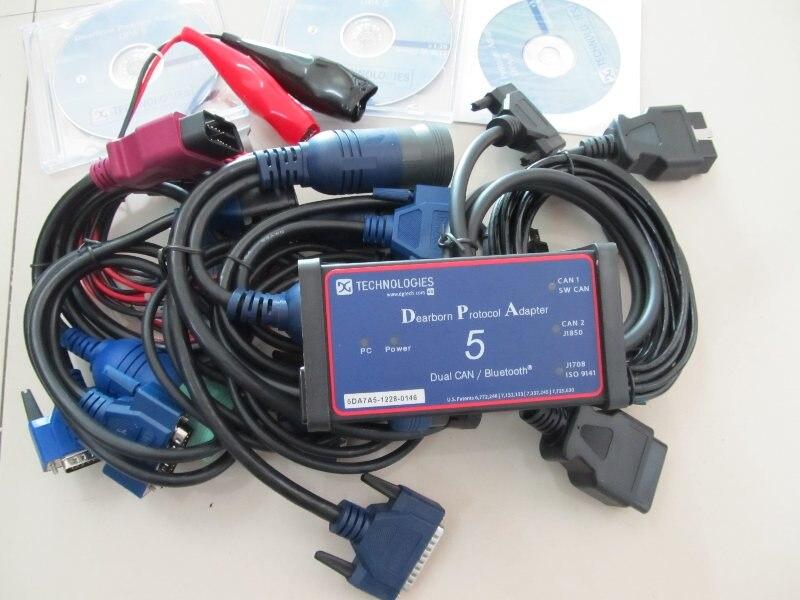 Adaptateur de protocole DPA5 Dearborn sans Scanner de camion robuste bluetooth dpa5 outil de diagnostic de camion dpa 5