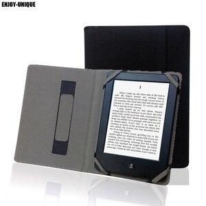 Image 1 - Étui en lin naturel pour Kindle Touch 4, 5, 6, 7, 8, avec support pour les mains
