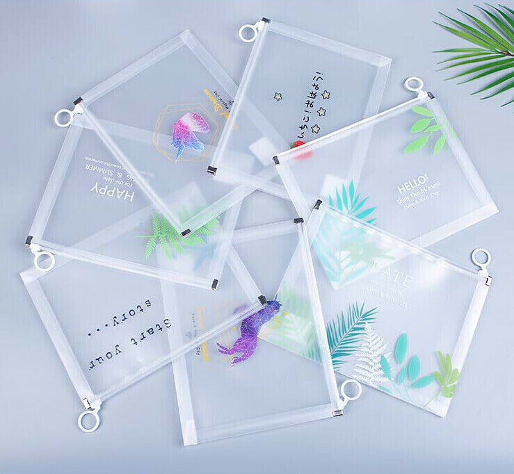 Pouch Document-Bag Stationery-Case Waterproof Clear Zipper A5 A4 4pcs File-Storage Noenname