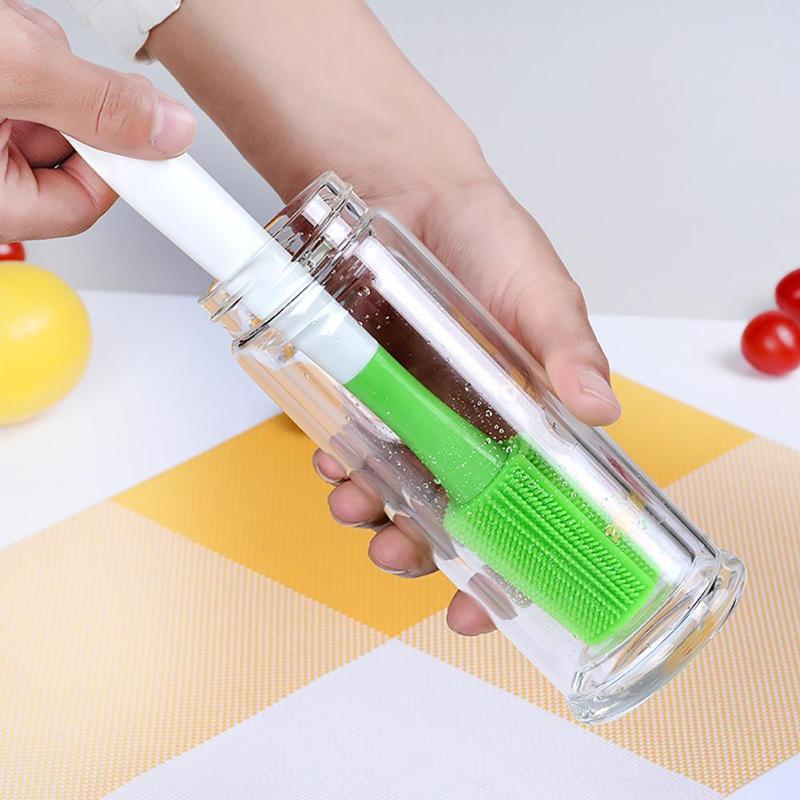 Силиконовые кисти с длинной ручкой кружка щетка для очистки бутылки для бутылки молока щетка для мытья дома Кухня чистящие средства #20 ...