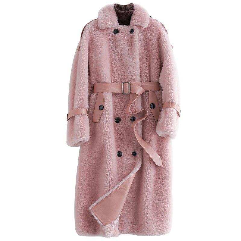 Reale Colore Donne Z1073 Europeo Cappotto 100 Pelliccia Di Pelle ATq5wtax