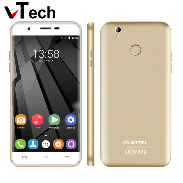 Original New OUKITEL U7 plus Android 6.0 5.5'' MTK6737 Quad Core 2GB RAM 16GB ROM 13 MP 2500mAh fingerprint 4G LTE Mobile Phone