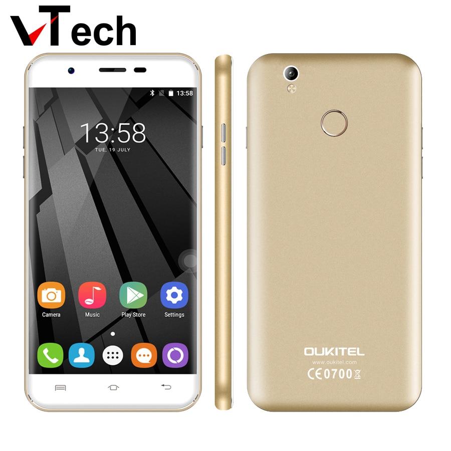 bilder für Original neue oukitel u7 plus android 6.0 5,5 ''mtk6737 quad core 2 GB RAM 16 GB ROM 13 MP 2500 mAh fingerabdruck 4G LTE Mobilen telefon