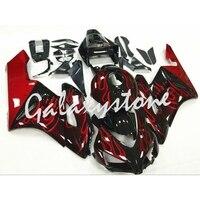 Fits Honda CBR1000RR 2004 2005 ABS Injection Fairing Bodywork Set Black&Red