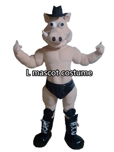 Свинья мышцы кабан маскоты костюм Хэллоуин Рождество реквизит для дня рождения костюмы наряд