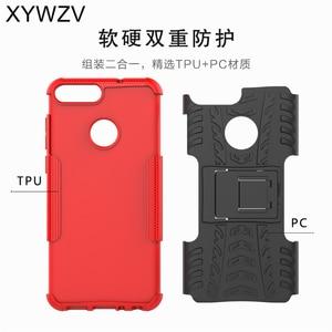 Image 4 - SFor Coque Huawei P Smart Fall Stoßfest Harte PC Silikon Telefon Fall Für Huawei P Smart Abdeckung Für Huawei Genießen 7 s Shell XYWZV