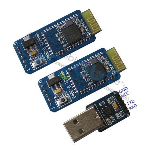 1 set of Robot Bluetooth Module Wireless serial UART TTL automatic matching zigbee to the serial port uart ttl wireless pa module cc2530 cc2591 intelligent hardware