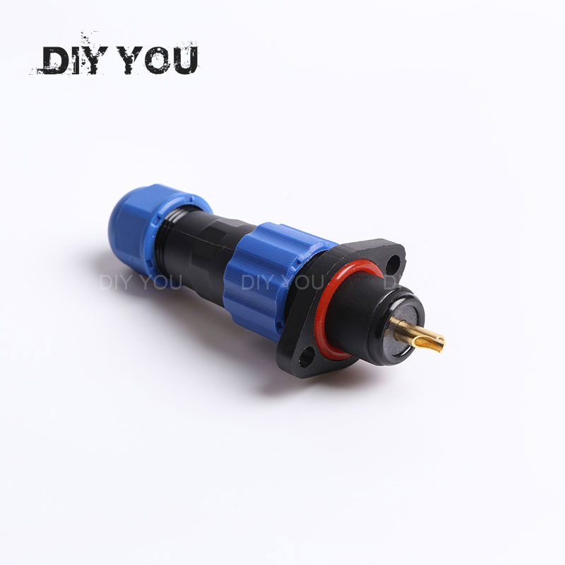SP13 Flange Type Waterproof Aviation Connector IP68 Straight Plug and Socket Male & Female 1/2/3/4/5