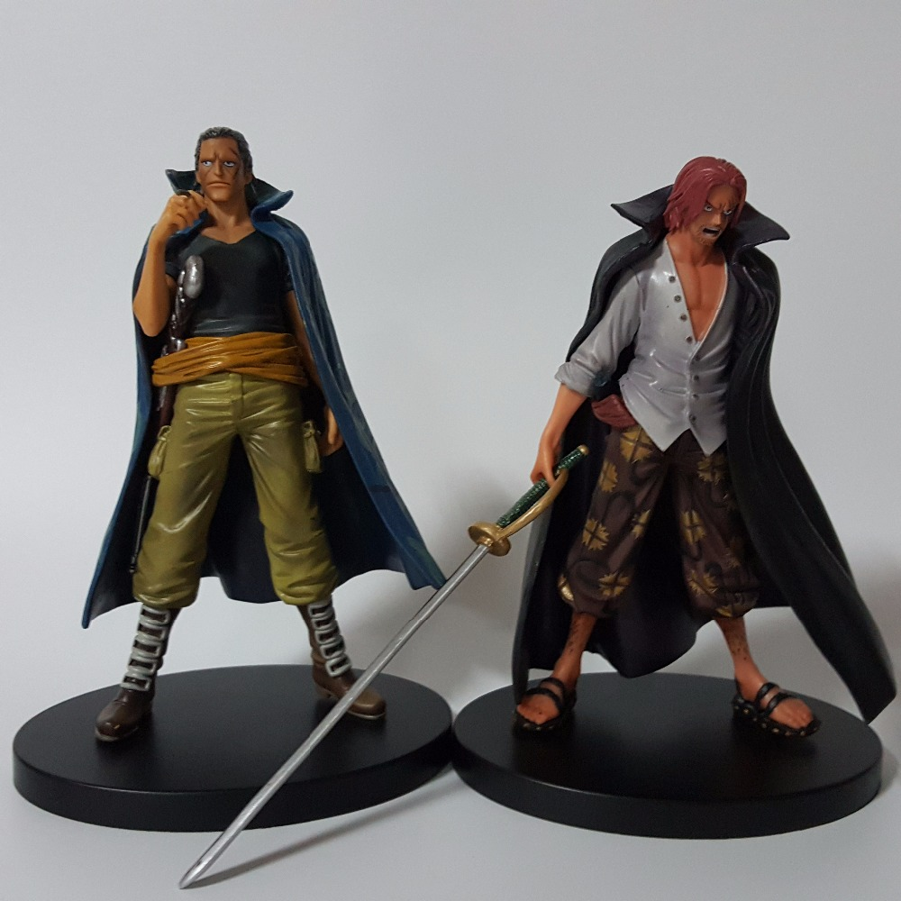 One Piece Action Figure Beckman Shunks PVC 180mm One Piece Gold Anime Collectible Model Toys Onepiece 2pcs/set