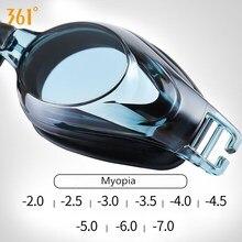 361 Professional Swimming Goggles Men Women Prescription Diopter Swim Pool Myopia Glasses for Adult Anti Fog