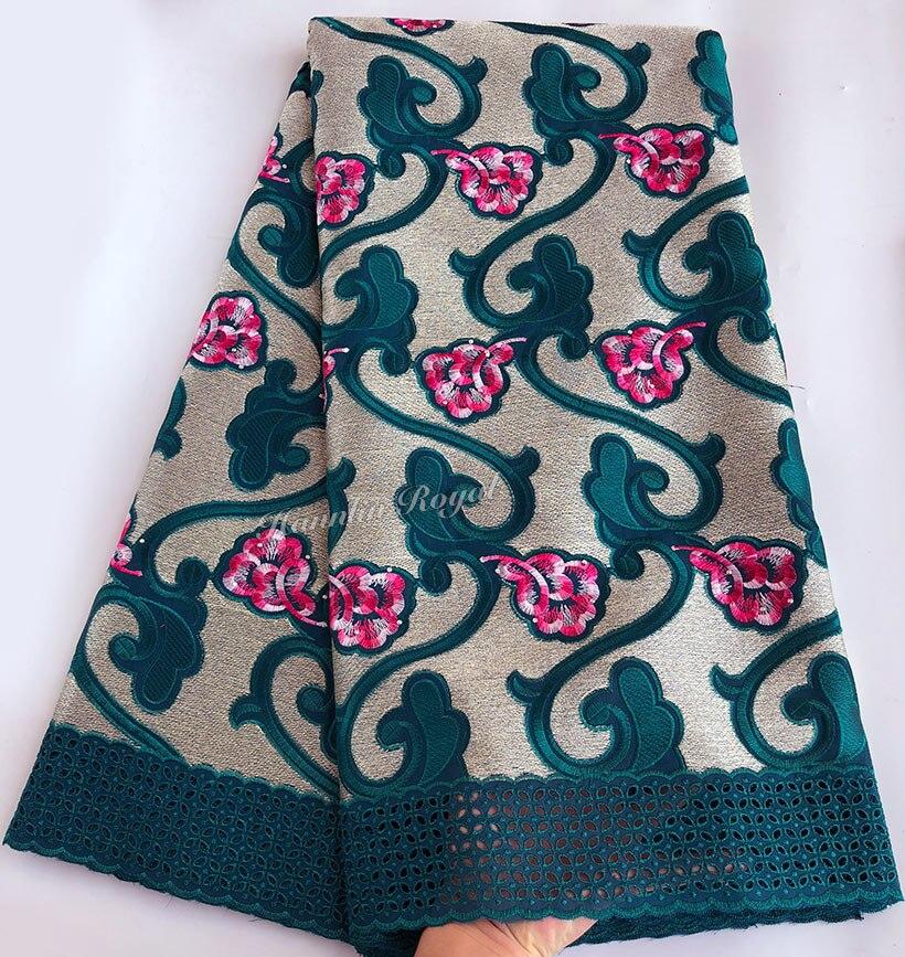 Mooie Guipure begrensd Afrikaanse Zwitserse voile kant stof Lurex borduurwerk katoen kant 5 yards per stuk-in Kant van Huis & Tuin op  Groep 2