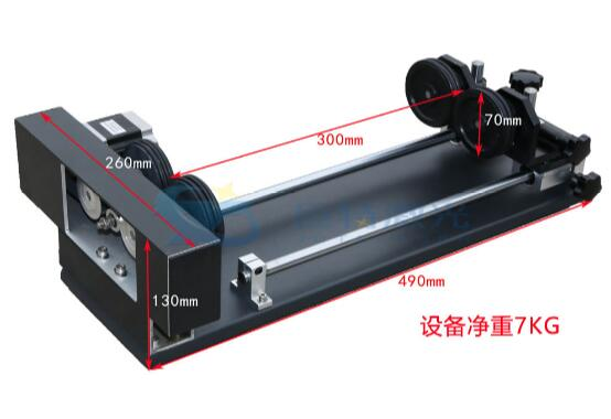 Laser engraving machine rotary fixture auxiliary fixture laser machine four wheel rotating shaft gourd carving jig