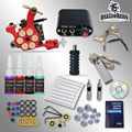 Principiante Kit de Tatuaje 1 Machine Gun 4 Tintas Agujas de Tatuaje fuente de Alimentación D1025GD-2