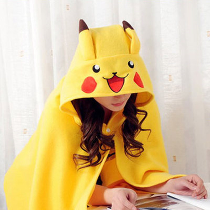 Cosplay Costume Totoro Pikachu cartoon house cloak cape air conditioning lazy Blanket Cappa Scarf Pokemon Tippet Scarves Shawl