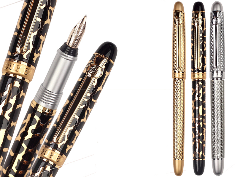 8K Solid Gold F Nib Wrting  pen Or RollerBall pen  3 colors to choose DUKE 216 Office and school signature pens  Free  Shipping8K Solid Gold F Nib Wrting  pen Or RollerBall pen  3 colors to choose DUKE 216 Office and school signature pens  Free  Shipping
