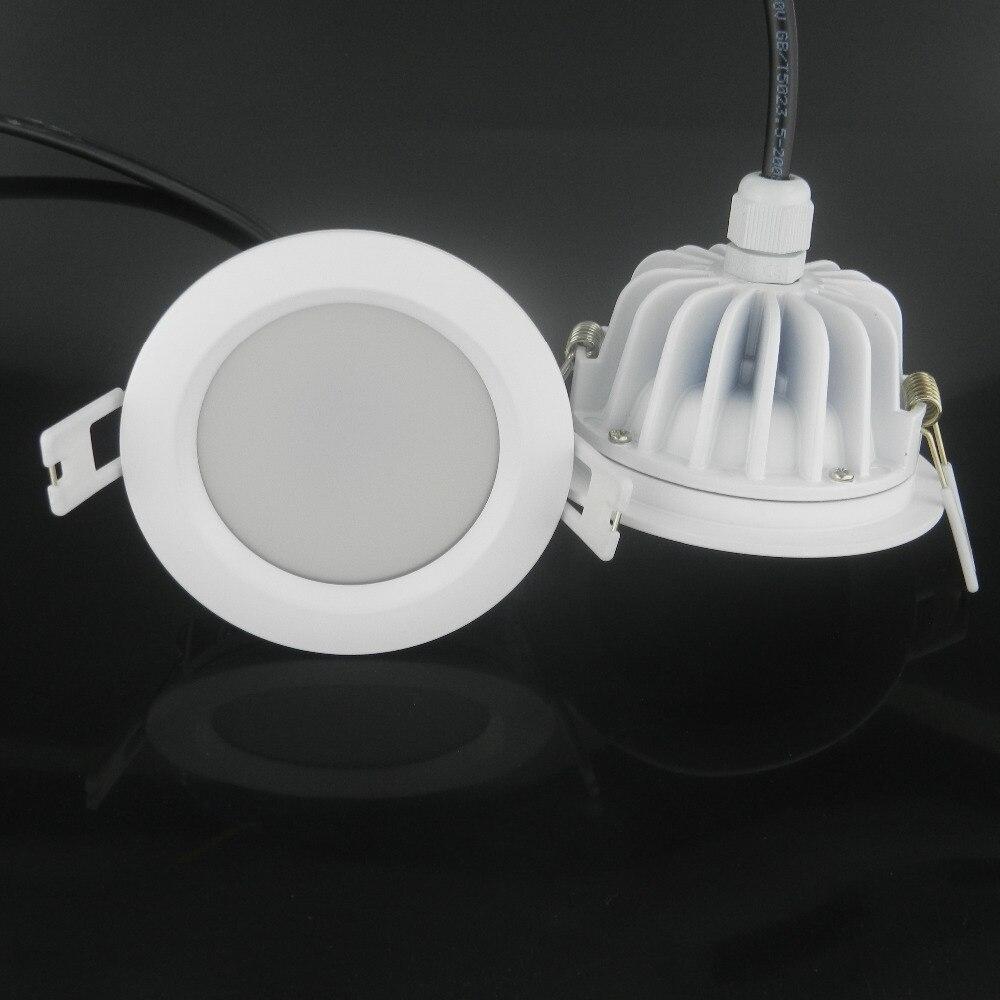 (4 pcs/lot) Nouvelle Arrivée 15 W Étanche IP65 Dimmable led downlight cob15W gradation CONDUIT de lumière Spot led plafond lampe