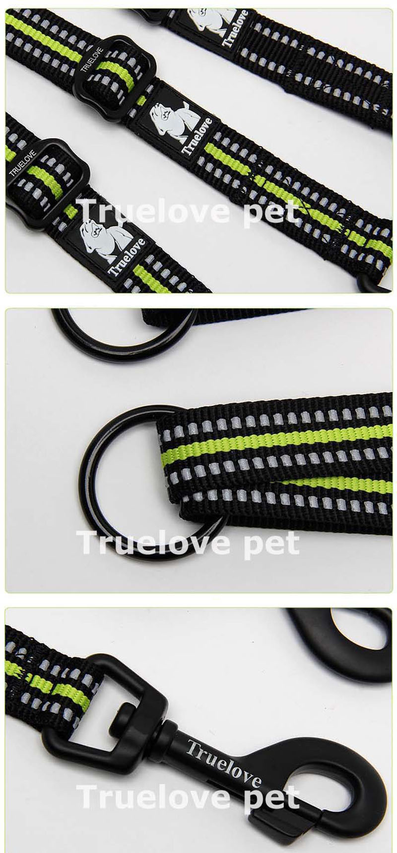 Truelove 3M Reflective Hands Free  Smart Double Dog Leash (8)