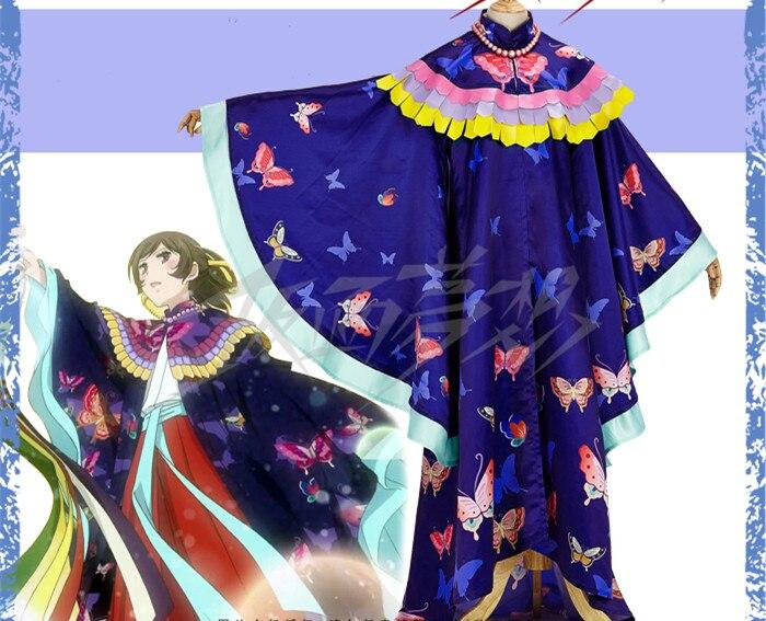 Головоломка поцелуй Momozono Нанами Косплэй Костюм Аниме фиолетовый кимоно