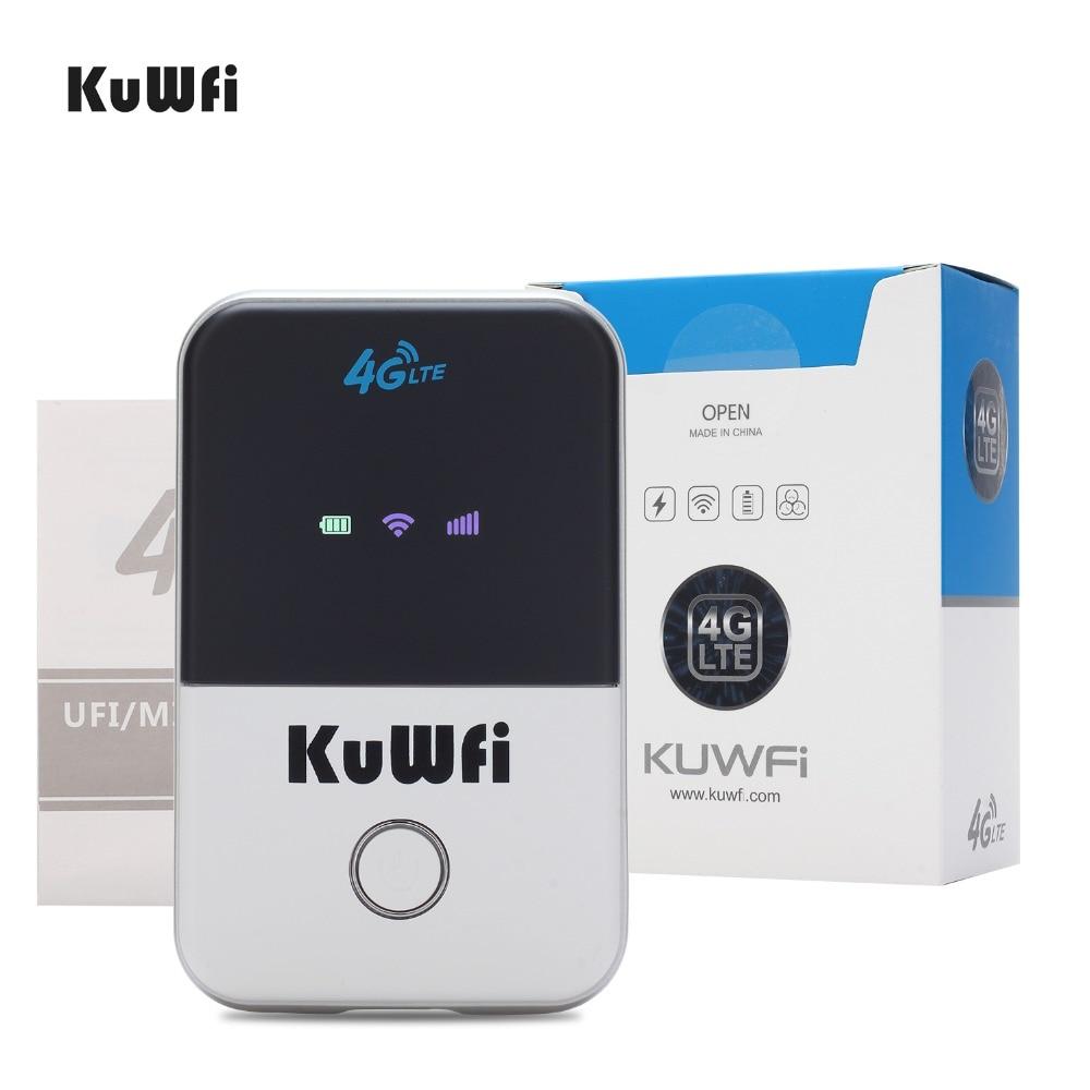KuWFi 4G Wifi Router Mini LTE Wireless Router Unlocked 3G / 4G FDD / - Peralatan jaringan - Foto 6